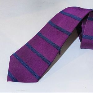 Brooks Brothers Purple & Blue Striped Silk Tie